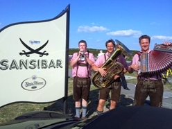 Oktoberfest Musiker vor der Sansibar Sylt